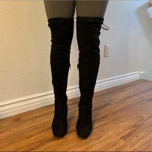 Black adjustable over the knee boots W 7